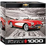 1000 piece puzzles corvette - EuroGraphics 1959 Corvette Jigsaw Puzzle (Small Box) (1000-Piece)