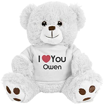 Amazon.com: I Heart You Owen Love: mediano oso de peluche ...