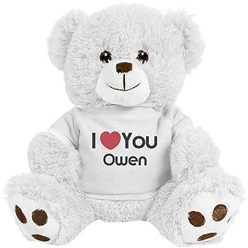 Amazon.com: I Heart You Owen Love: mediano oso de peluche ...