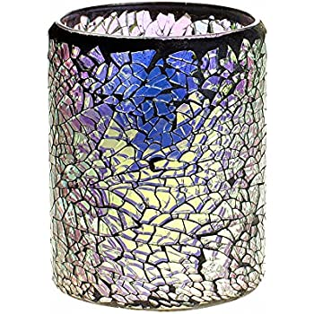 DFL Led candle flameless candle lantern for home decoration with Timer and Battery operated,Multicolor,3x4 Inches