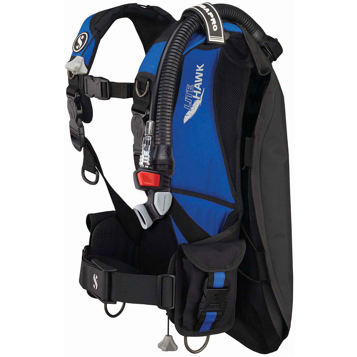 Scubapro Litehawk BCD with Air 2 (X-Large / 2X-Large, Black/Blue)