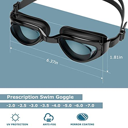 b3946179b2 Zionor G7 Nearsighted Swimming Goggles Corrective Myopic Optical Swim  Goggles No Leaking Anti-fog 100% UV Protection for Shortsighted Men