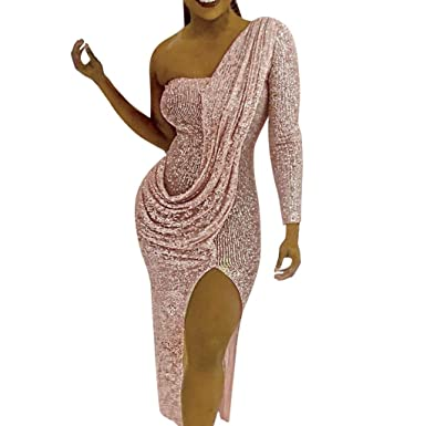 5c4d4bd696 SGMORE Plus Size Cocktail Dresses for Women Special Occasion with Sleeves  Sequin at Amazon Women s Clothing store