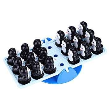 Fdit Desktop Game Penguin Balance Seesaw Toy Parent-Child Interactive Educational Toys for Kids Children Gift