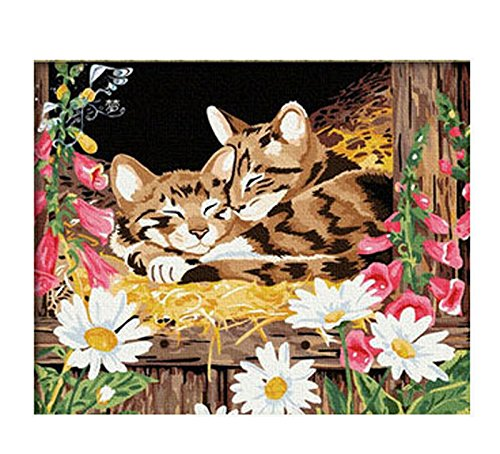 paint by numbers Frameless Canvas - 16*20 inches Two cats