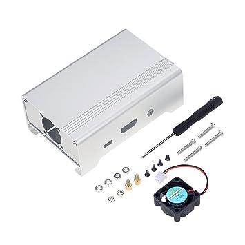 KKmoon Caja Protectora de Caja de Carcasa de aleación de Aluminio para Raspberry Pi 3, Pi 2 y B + con Ventilador de refrigeración