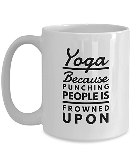 Amazon.com: Porque Punching personas de Yoga es frowned upon ...
