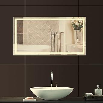 Anten® Design Spiegel led warmweiß 23W 4000k für Badezimmer Spiegel ...
