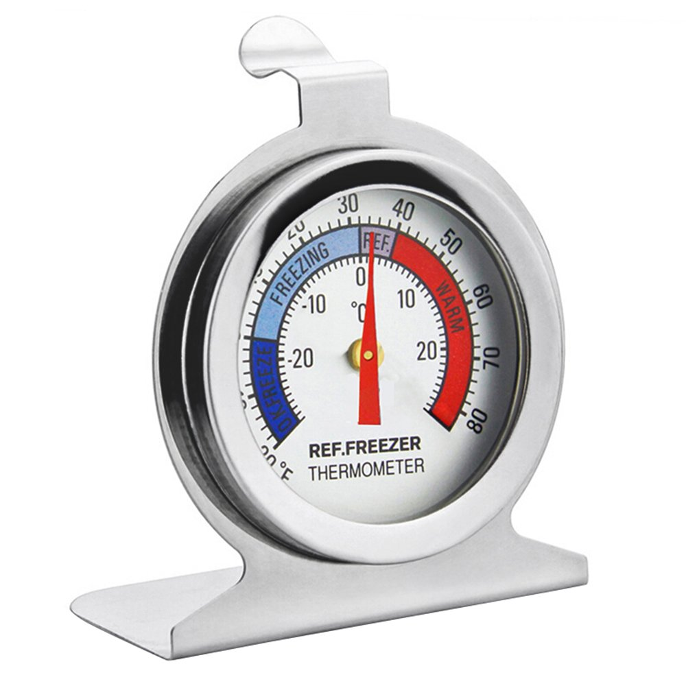 MyLifeUNIT Commercial Refrigerator Thermometer, Stainless Steel Dial Freezer Thermometer KT18JY084