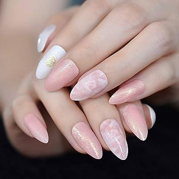 Amazon.com  24Pcs Medium Almond Lovely Girl Artificial Nail