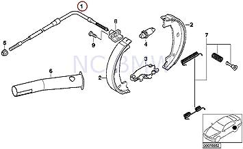 Amazon.com: BMW 34 41 1 165 020, Parking Brake Cable: AutomotiveAmazon.com