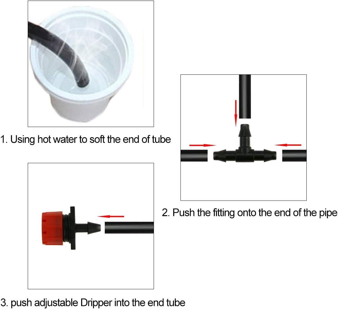TedGem Kit de riego por goteo, sistema de riego automático DIY con ...