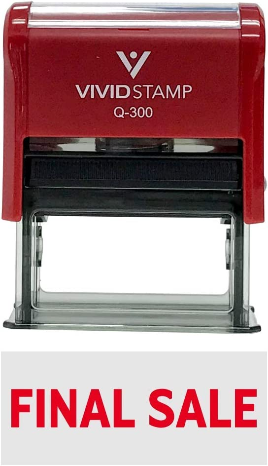 Basic Final Sale Self-Inking Office Rubber Stamp (Red) - Large