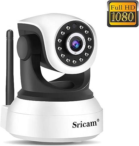 Sricam SP017 Cámara de Vigilancia WiFi, Cámara IP 1080P Bebe Interior HD, Videocamara con Visión Nocturna, Audio Bidireccional, Detección de Movimiento, Compatible con iOS Android Windows PC: Amazon.es: Electrónica