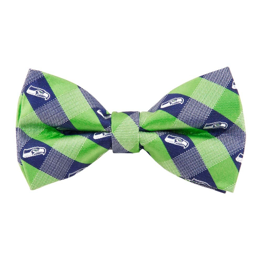 amazon com seattle seahawks checked logo bow tie nfl football