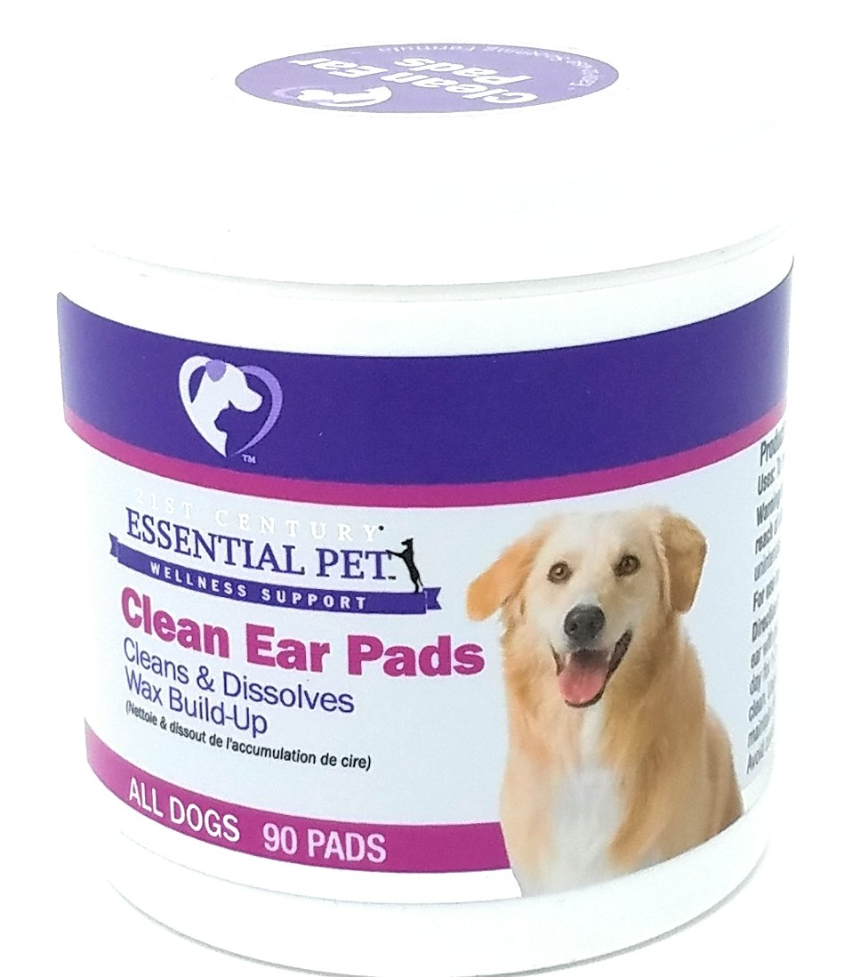 21st Century Dog Clean Ear Pads, 90 Count