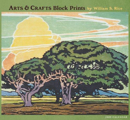 2009 Calendar Print - Arts & Crafts Block Prints 2009 Wall Calendar