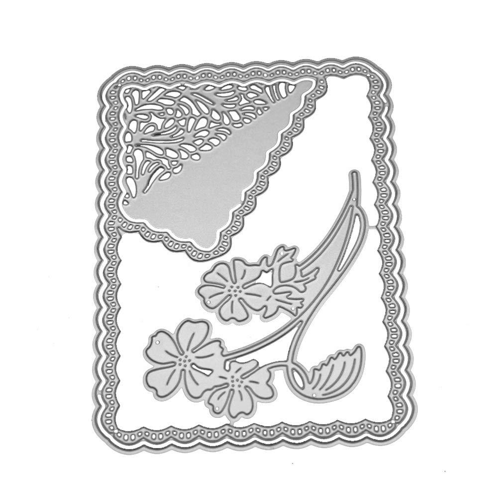 Marco Onda de Flor Model Plantillas Estarcir para DIY Tarjeta Papel /Álbum Scrapbook Decoraci/ón Metal Cutting Dies cA0boluoC Troqueles