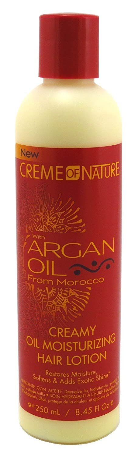Creme Of Nature Argan Oil Creamy Oil Moisturizer 8.45 Ounce (249ml) (2 Pack)