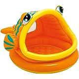 Intex - 57109 - Piscine gonflable enfant avec pare-soleil- Lazy Fish