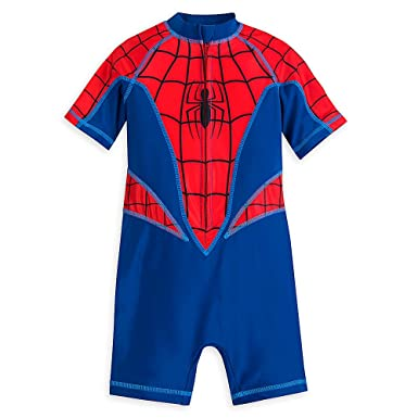a02a69f987 Amazon.com: Marvel Spider-Man Swimsuit For Boys Size 5/6 ...
