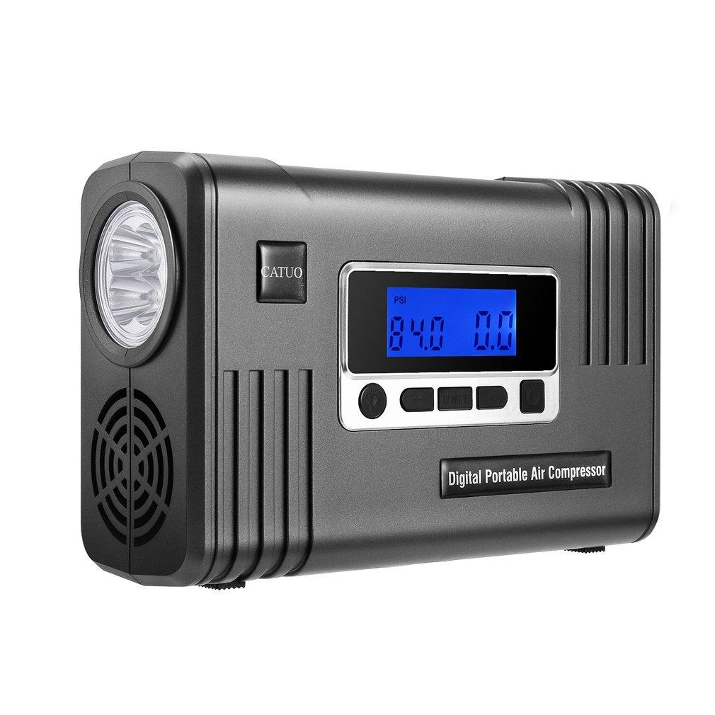 Sweepid Digitale Aufblasbare Pumpe Digitale Sweepid Tragbare Luftkompression Reifen Luftpumpe mit LED-Pumpe 100 Psi 12V DC Große LCD-Anzeigen-schnelle Inflation abdae3