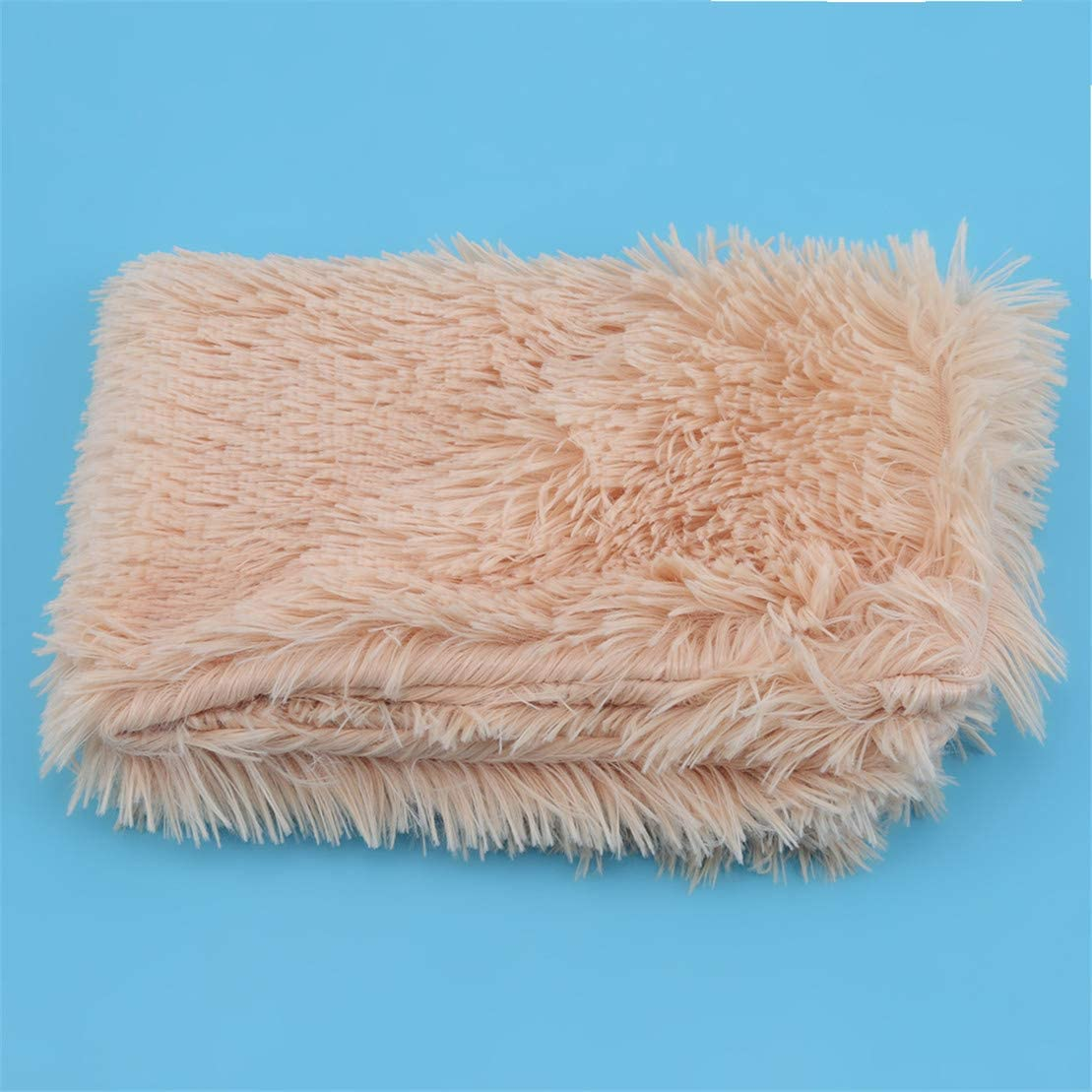 Grey-100 * 80cm Kissherely Long Plush Pet Blanket Soft Fluffy Blankets for Dog Cat Pets Bed Mats Winter Sleeping Soft Thin Covers
