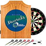 Trademark Global NBA Dallas Mavericks Wood Dart Cabinet, One Size, Brown