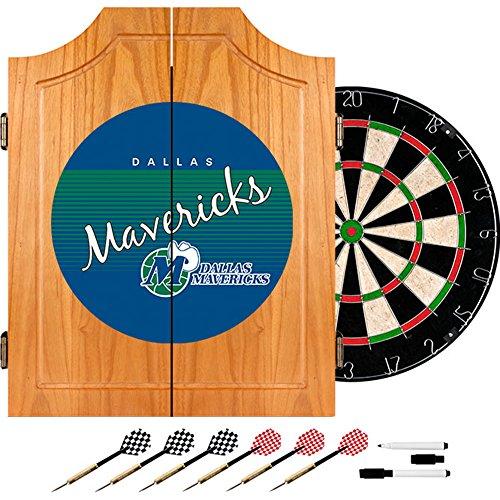 Trademark Global NBA Dallas Mavericks Wood Dart Cabinet, One Size, Brown by Trademark Global