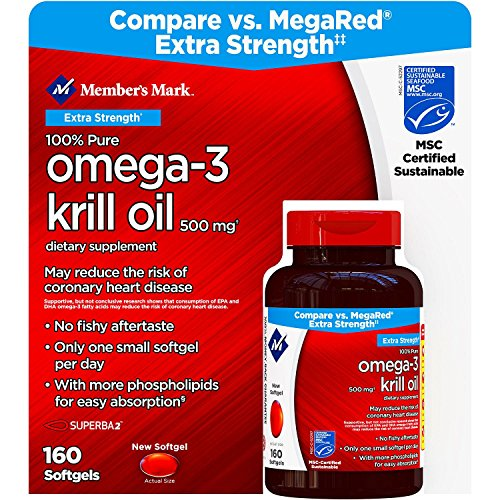 Member's Mark Extra Strength 100% Pure Omega-3 Krill Oil (pack of 6) by Members Mark