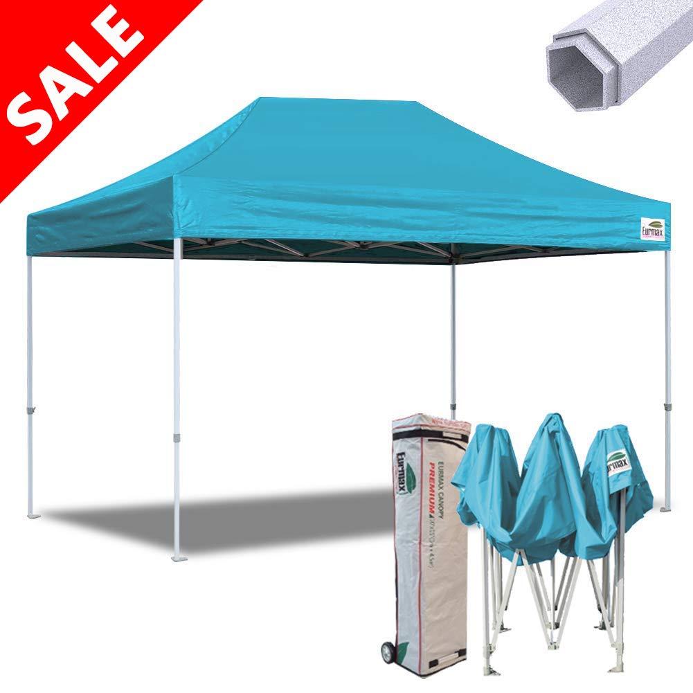 Gold Eurmax 10x15 Ft Premium Ez Pop up Canopy Instant Canopies Shelter Outdoor Party Gazebo Commercial Grade Bonus Roller Bag