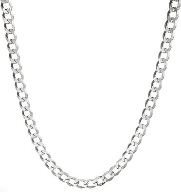 "7MM 925 STERLING SILVER MEN/'S//WOMEN/'S CUBAN LINK CHAIN NECKLACE 16-36/"""
