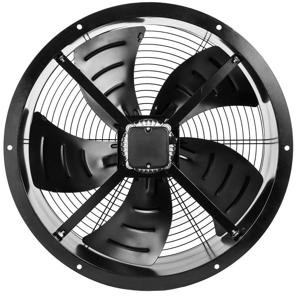 Extractor de Aire de Tubo de 600 mm para ventilaci/ón Industrial 1350 RPM Redondo 670x670x280 mm PrimeMatik