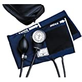McKesson 01-775-11ANGM Standard Pocket Style Hand Held Aneroid Sphygmomanometer, Adult Cuff Size, Navy Blue