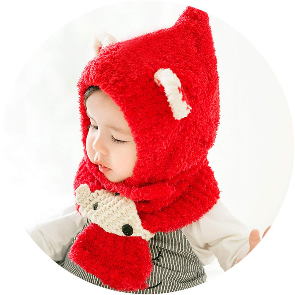 Scarf Winter Warm Hat Baby Caps Kimanli Toddler Hat,Baby Boys Girls Fox knit Hats