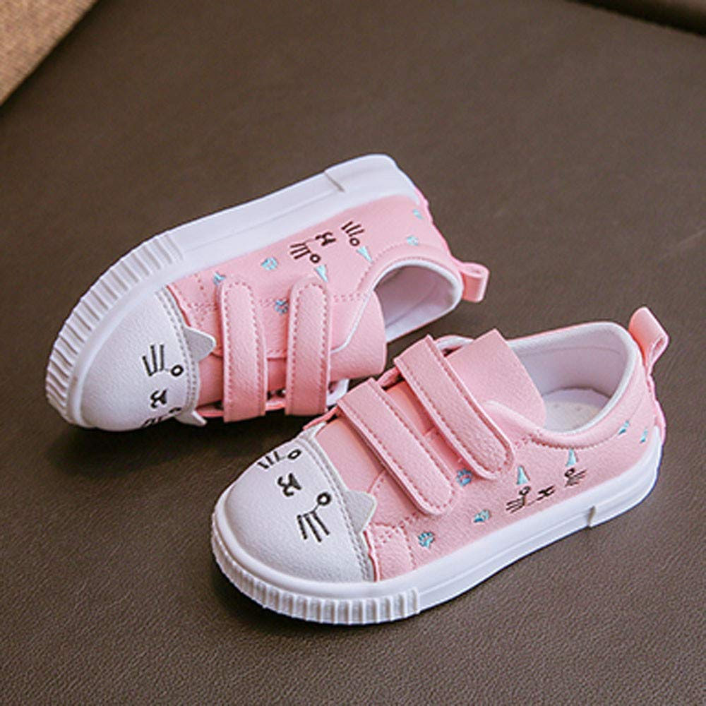 Kids Boys Girls Cat Sneakers Sports Running Shoes Baby Infant Casual Shoes Coffee Kasien Baby Shoes