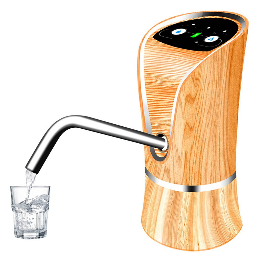M&Z USB Rechargeable Water Pump Pure Buckets Electric Water Dispenser Water Faucet,Wood,7.515.9Cm