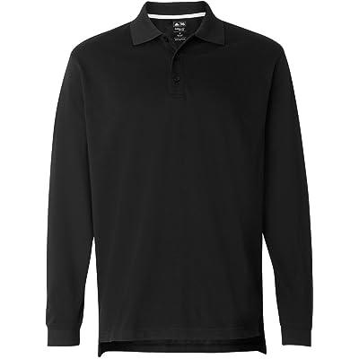 Adidas Golf mens ClimaLite Tour Pique Long-Sleeve Polo (A86)