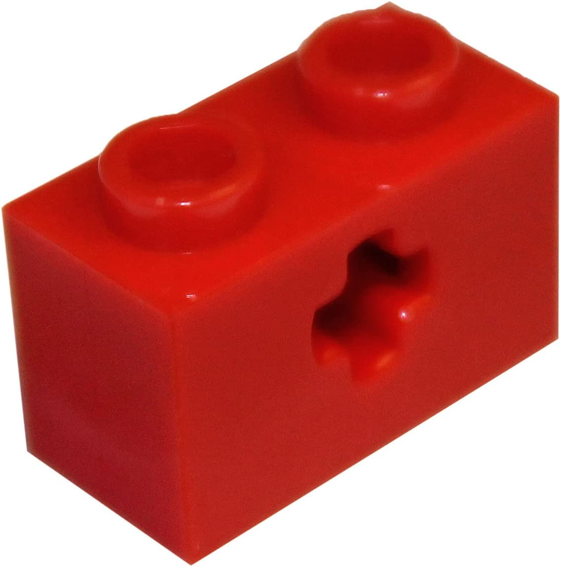 LEGO Lot of 10 Red 1x2 Technic Brick Pieces