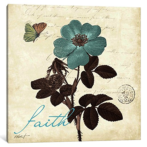 iCanvasART 1-Piece Touch Of Blue Ii-Faith Canvas Print by Katie Pertiet, 37 by 37''/0.75'' Deep by iCanvasART