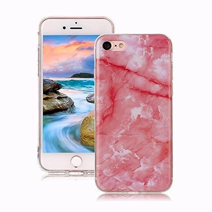 Yunbaoz Funda Compatible para iPhone 7 Mármol, iPhone 8 Case Diseño Mármol Carcasa Suave Goma Silicona Soft Marble Case Suitable for Textura de Piedra ...