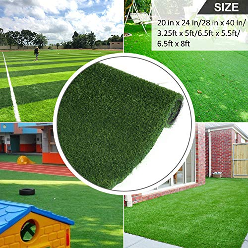 Grasslife Artificial Grass Area Rug, Professional Outdoor Rug for Pets Puppy Pad Mat Realistic Fake Turf Rug for Patio 3.25ft x 5ft (16.25 Square FT) 3 Tone