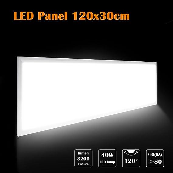 LED Panel Wandleuchte 120X30 Ultraslim Modern Deckenleuchte Schlafzimmer Küche Flur Wohnzimmer Lampe mit Befestigungsmaterial