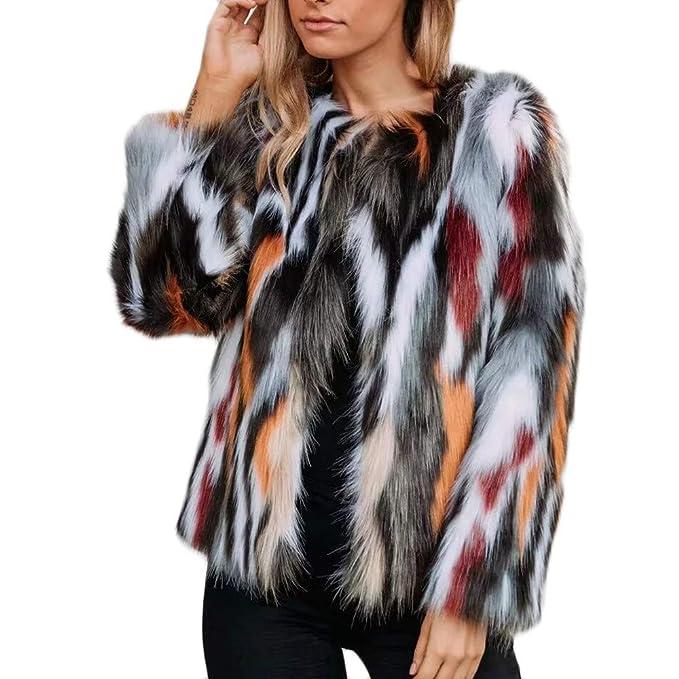 Yvelands Mujeres Invierno Cálido Abrigo Grueso Overout Chaqueta de Piel Sintética Parka Outwear Blusa Top Caliente: Amazon.es: Ropa y accesorios