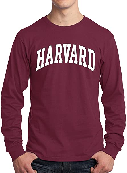 576302bf Amazon.com: New York Fashion Police Harvard University Long Sleeve T-Shirt  - Officially Licensed: Clothing