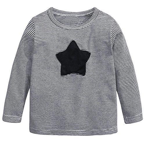 6a821b9c Baby Kids Boys Girls Star Striped Long Sleeve O Rong BFF T-Shirt Tee ...