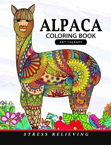 Alpaca Coloring Book: Animal Adults Coloring Book -