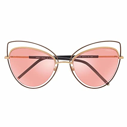 0a264cfe77 Amazon.com  Women s 100% UV Protection Clear Lense Pink Cat-eye ...