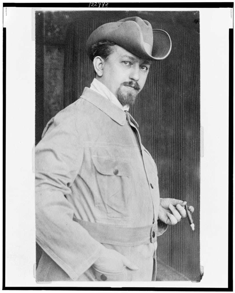 c. 1890 8 x 10 Vintage Photo of: Leo Frobenius Half-Length Portrait Standing Facing Right Holding Cigar