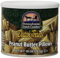 Pennsylvania Dutch Candies Peanut Butter Pillows, 10-ounces Tins (Pack Of 4)